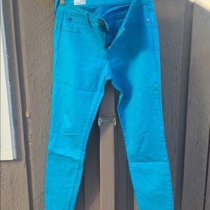 Gap Spring pants in Cookie Monster blue!